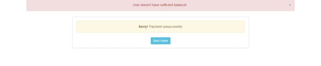 Insufficient balance